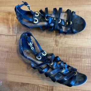 Sperry Top Sider gladiator sandals shoes heels 8.5